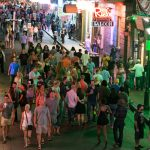 picture of bourbon street during new orleans corporate party