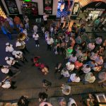 picture from above of corporate event attendees in new orleans